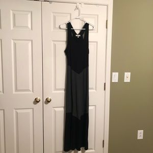 Monteau Maxi Dress Large Juniors Black and Gray